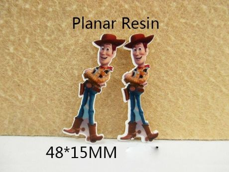 5 X 48MM WOODY FROM TOY STORY FLAT BACK LASER CUT RESIN HEADBANDS HAIR BOWS CARD MAKING